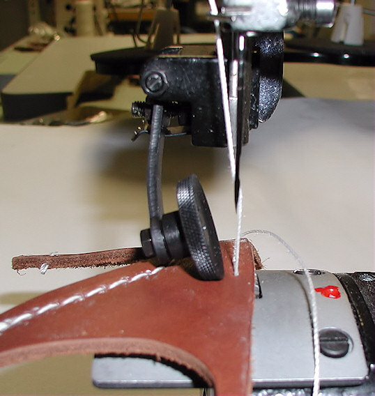 leather roller foot for sewing machine