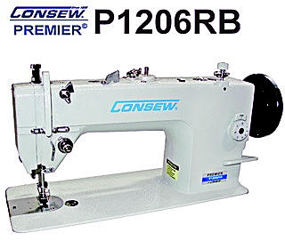 The Consew P1206RB industrial walking foot sewing machine