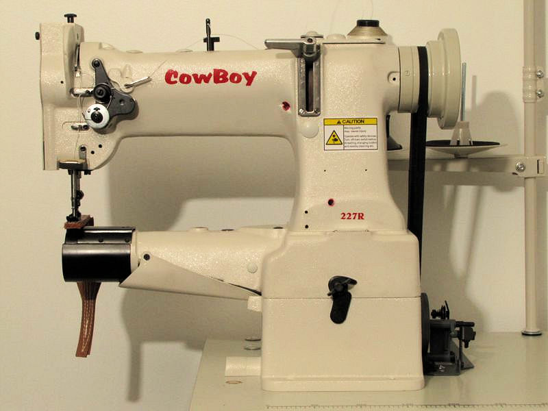 leather sewing machine cowboy