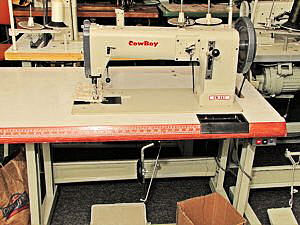 The Cowboy CB-243 heavy leather, flat bed sewing machine